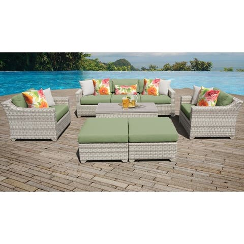 Fairmont 8 Piece Outdoor Wicker Patio Furniture Set 08c