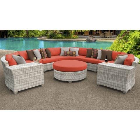 Fairmont 8 Piece Outdoor Wicker Patio Furniture Set 08b