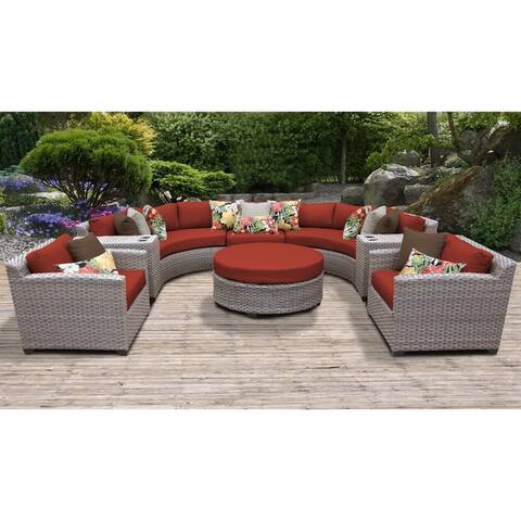 Florence 8 Piece Outdoor Wicker Patio Furniture Set 08e