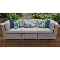Florence 3 Piece Outdoor Wicker Patio Furniture Set 03c