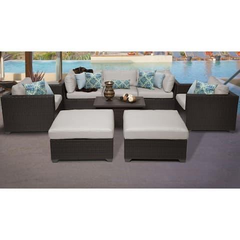 Belle 8 Piece Outdoor Wicker Patio Furniture Set 08a