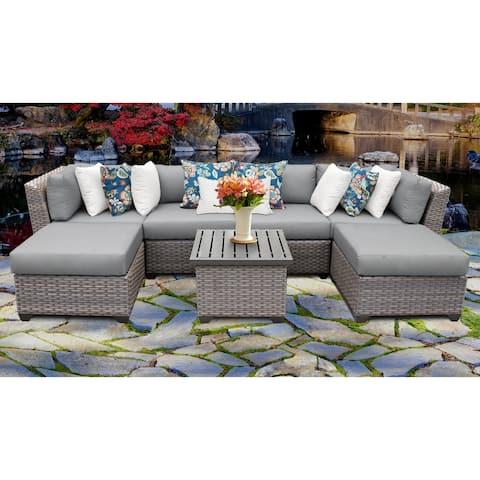 Florence Wicker 7-piece Outdoor Patio Furniture Set
