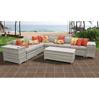 Fairmont 9 Piece Outdoor Wicker Patio Furniture Set 09b