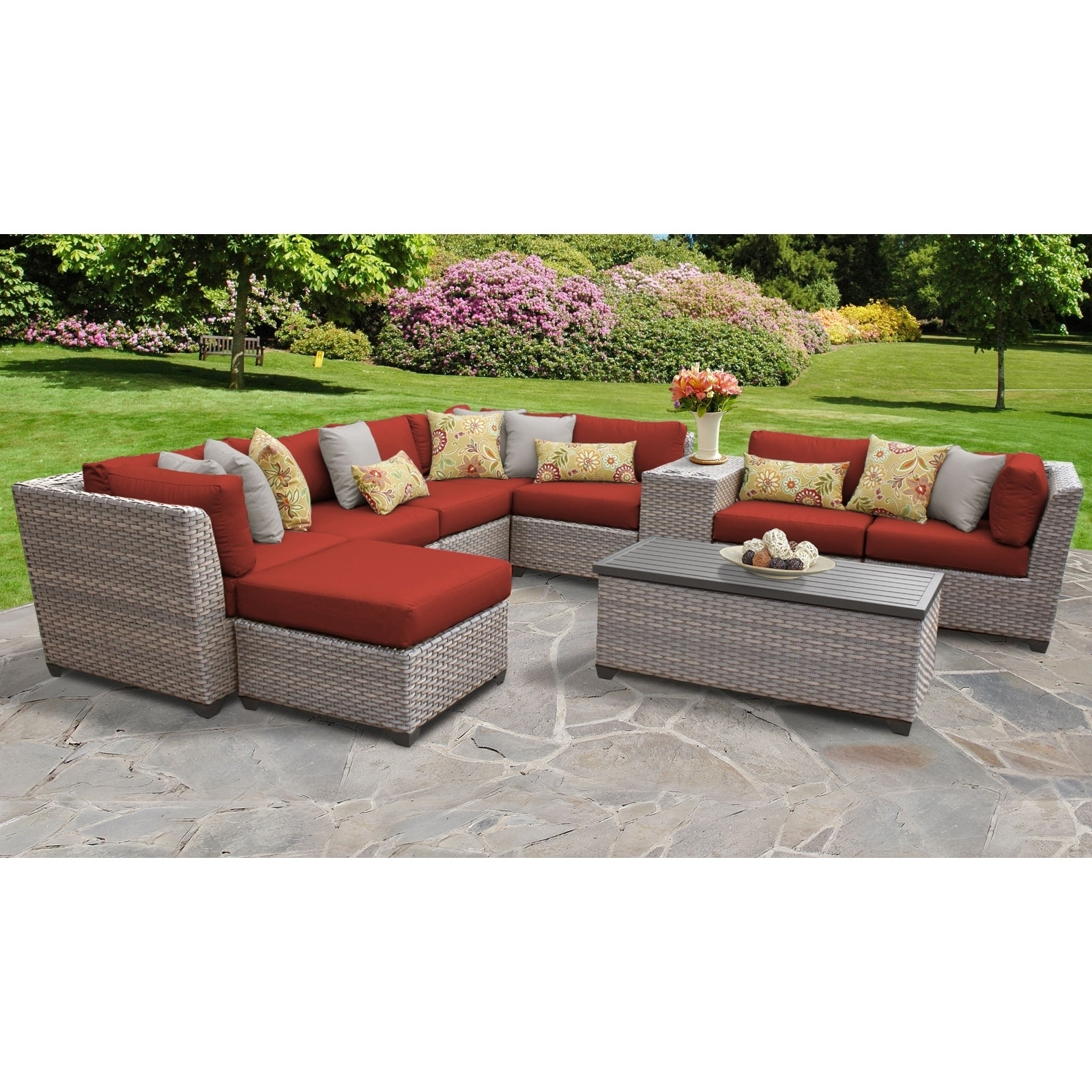 Excellent Florence 10 Piece Outdoor Wicker Patio Furniture Set 10B Lamtechconsult Wood Chair Design Ideas Lamtechconsultcom