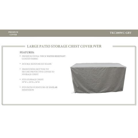 Storage Chest Protective Cover, in Grey