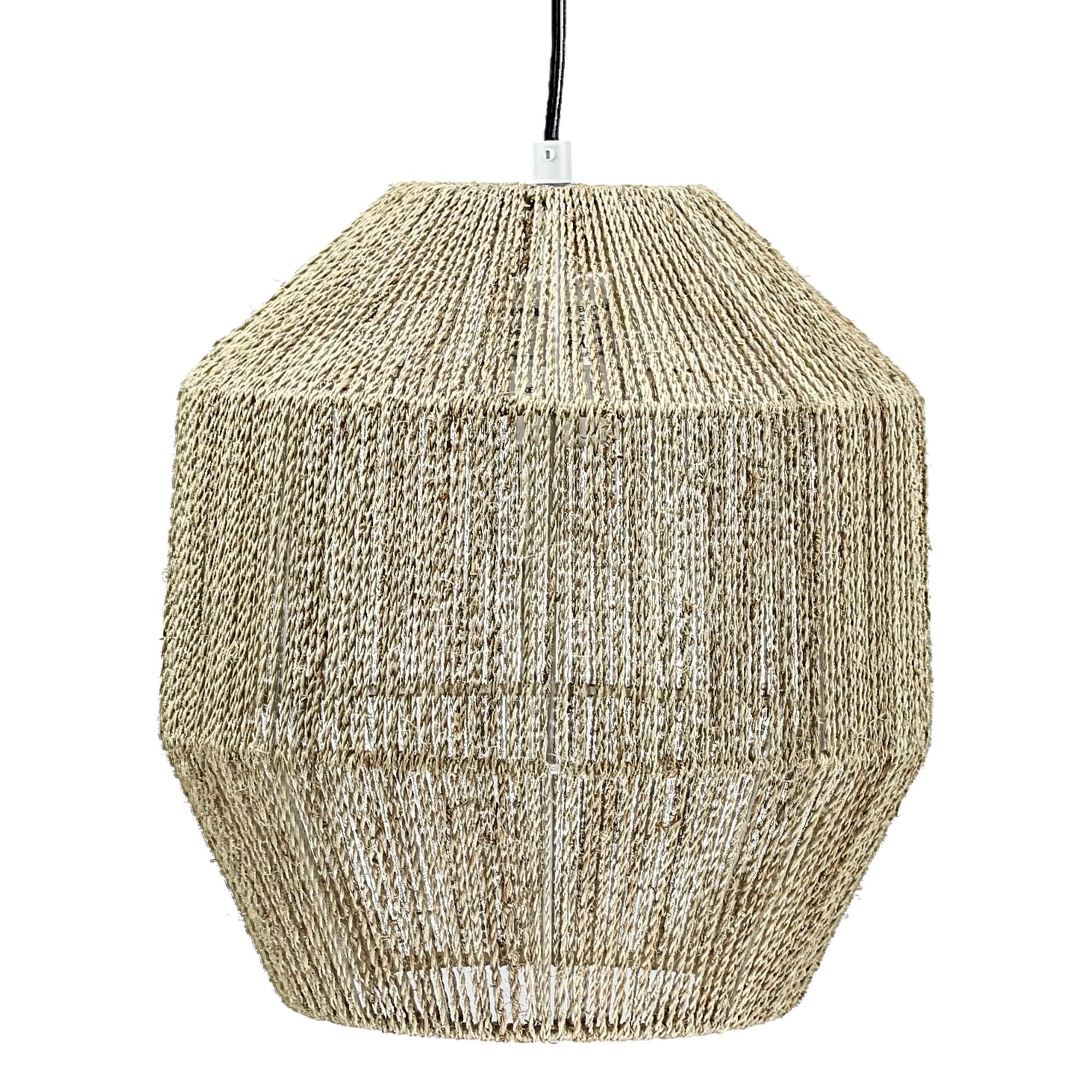 American Art Decor Swag Style Hemp Rope Hanging Pendant Lamp 12 5 Overstock 26274363