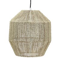 "American Art Decor Swag Style Hemp Rope Hanging Pendant Lamp (12.5"")"