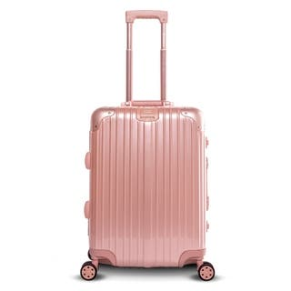 "Gabbiano Aurora Collection Aluminum Frame 20"" Spinner Luggage with TSA locks"