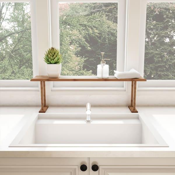 Shop Bamboo Sink Shelf Countertop Organizer For Kitchen