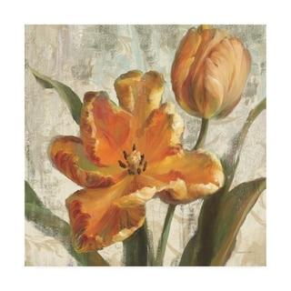 Danhui Nai 'Parrot Tulips I On Ivory' Canvas Art