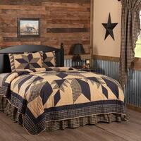Black Primitive Bedding VHC Dakota Star Quilt Set Cotton Star Patchwork (Quilt, Sham)