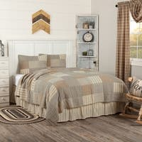 Grey Farmhouse Bedding Miller Farm Quilt Set Cotton Chambray (Quilt, Sham)