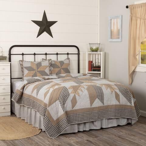 Dakota Star Farmhouse Blue Quilt Set