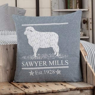 Sawyer Mill Blue Lamb Pillow 18x18