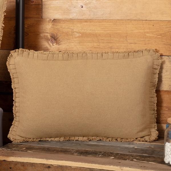 Shop Farmhouse Bedding Veranda Burlap Tan 14x22 Pillow Cotton Solid