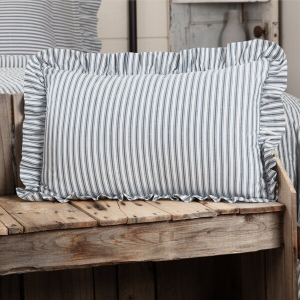 Sawyer Mill Ticking Stripe Fabric Pillow 14x22