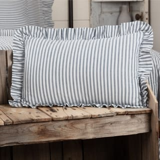 Farmhouse Bedding VHC Sawyer Mill Ticking Stripe 14x22 Pillow Cotton Striped (Pillow Cover, Pillow Insert)