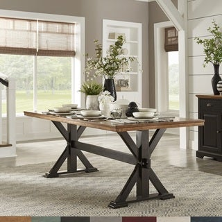 The Gray Barn Gamgee Grange 78-inch Oak Dining Table with X-base