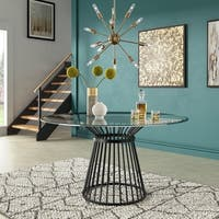 Sheeba Round Caged Metal Base Dining Table by iNSPIRE Q Modern