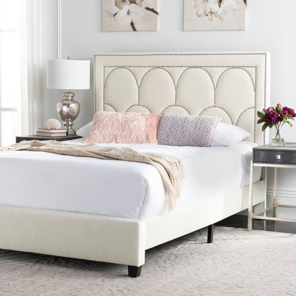 Safavieh Solania Bed Queen - Creme. Opens flyout.