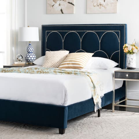 Safavieh Solania Bed Queen - Navy