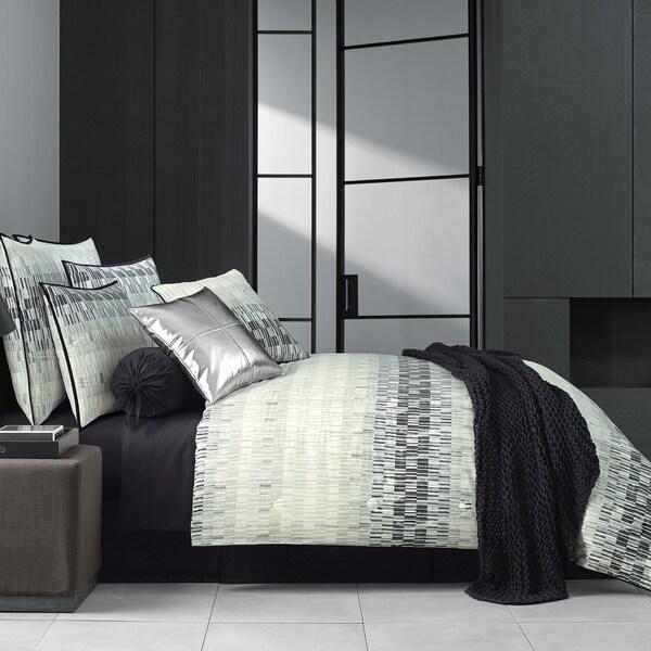 Five Queens Court Fulton Black Twill Cotton 4 Piece Comforter Set