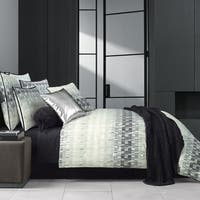 Five Queens Court Fulton Black Twill Cotton 4 Piece Comforter Set