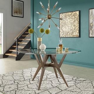 Link to Carson Carrington Tiboke Mid-Century Modern Walnut Dining Table Similar Items in Dining Room & Bar Furniture