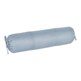 Five Queens Court Langdon Blue Twill Cotton Bolster Pillow