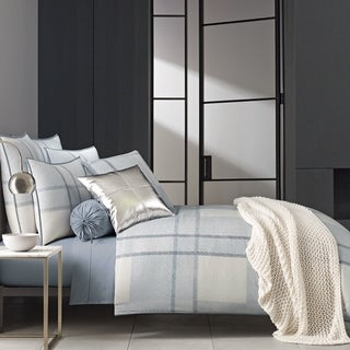 Link to Five Queens Court Langdon Blue Twill Cotton Duvet Cover Similar Items in Duvet Covers & Sets