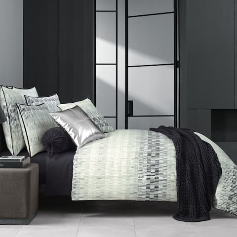 Five Queens Court Fulton Black Twill Cotton Duvet Cover