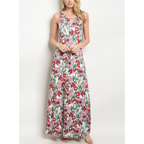 5b413521d09 Shop JED Women s Sleeveless Floral Maxi Dress - On Sale - Free Shipping On  Orders Over  45 - Overstock - 26275476