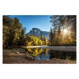 Yosemite Home Décor Morning in Paradise Tempered Glass Wall Art - Multi-color