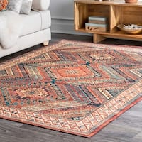 nuLOOM Southwestern Transitional Sya Antique Greek Waves Border Area Rug