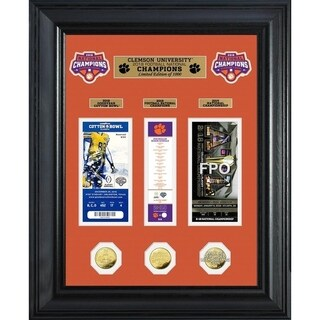 Clemson Tigers 2018 Football National Champions Deluxe Gold Coin Ticket Collection