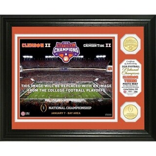 Clemson Tigers 2018 Football National Champions Commemorative Bronze Coin Photo Mint