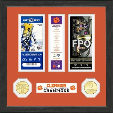Clemson Tigers 2018 Football National Champions Ticket Collection