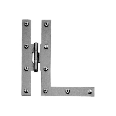 Acorn 7 in. L Black Iron H-L Hinge 1 pk