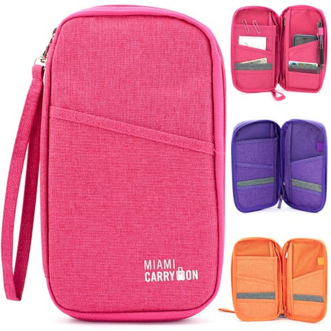 Miami CarryOn Travel Passport Bag, Card Organizer, Passport Wallet