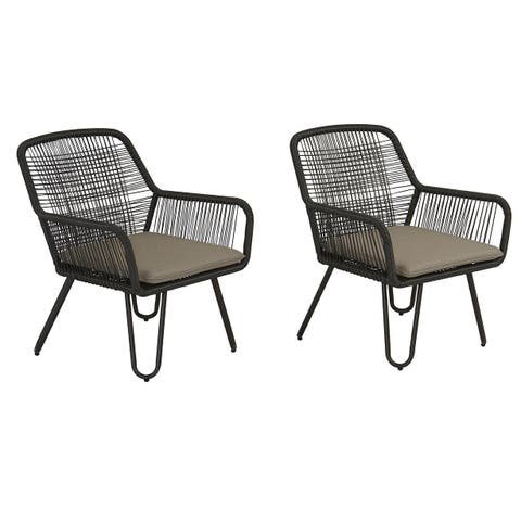 Novogratz Poolside Collection Marli Lounge Chairs (Set of 2)
