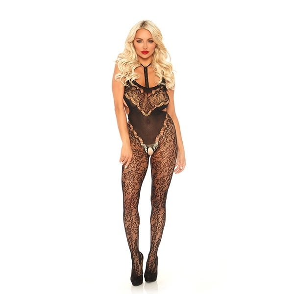 50f822d80 Shop Halter Lace Bodystocking - Free Shipping On Orders Over  45 ...