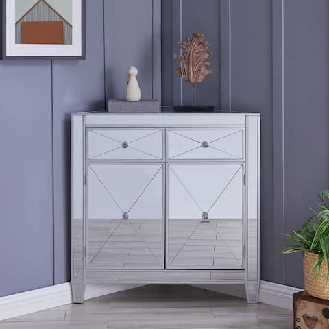 Miley Mirrored Corner Cabinet