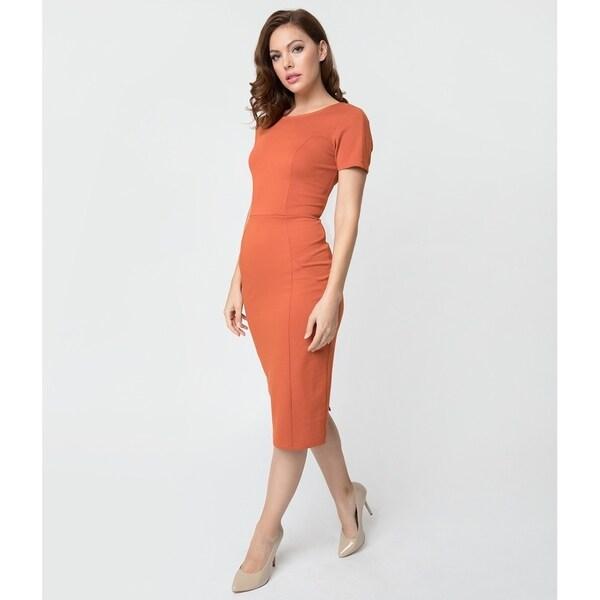 Unique Vintage Cinnamon Wiggle Dress