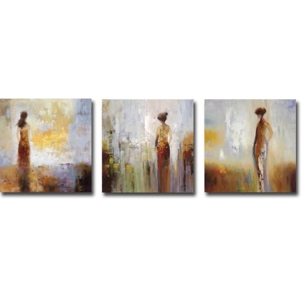 Colors in the Mist I, II, & III by Brosi 3-piece Gallery Wrapped Canvas Giclee Art Set (12 in x 12 in each piece, Ready to Hang). Opens flyout.