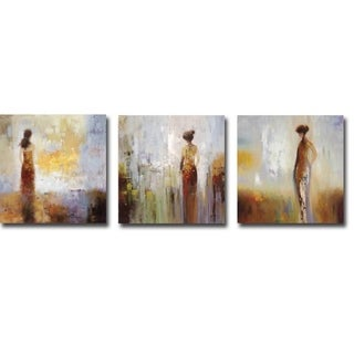 Colors in the Mist I, II, & III by Brosi 3-piece Gallery Wrapped Canvas Giclee Art Set (12 in x 12 in each piece, Ready to Hang)