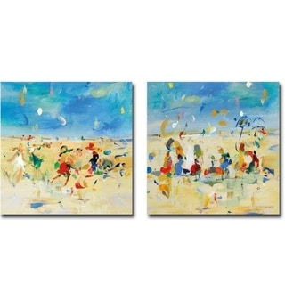 Link to Beach Play 1 & 2 by Jossy Lownes 2-piece Gallery Wrapped Canvas Giclee Art Set (Ready to Hang) Similar Items in Matching Sets
