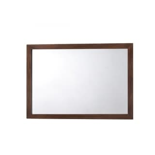 Rectangular Mirror with Walnut Finished Wooden Frame - Oak Finish
