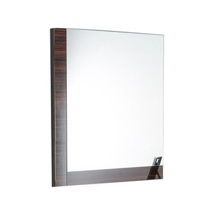 Brown Square Mirror with L-shaped Wooden Frame - Oak Finish