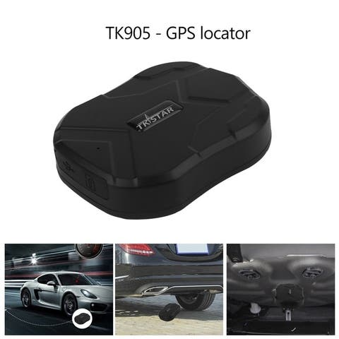 Portable TK905 Auto Car GPS Tracker Waterproof Real Time Tracking Tracker - black
