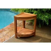 Tortuga Outdoor Teak Wood Shower Stool
